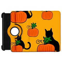 Halloween pumpkins and cats Kindle Fire HD Flip 360 Case