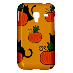 Halloween pumpkins and cats Samsung Galaxy Ace Plus S7500 Hardshell Case