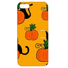 Halloween pumpkins and cats Apple iPhone 5 Hardshell Case with Stand
