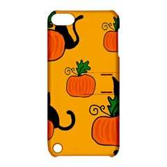 Halloween pumpkins and cats Apple iPod Touch 5 Hardshell Case with Stand