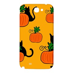Halloween pumpkins and cats Samsung Note 2 N7100 Hardshell Back Case