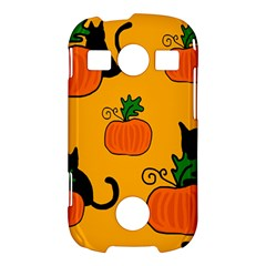Halloween pumpkins and cats Samsung Galaxy S7710 Xcover 2 Hardshell Case