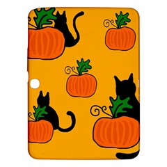 Halloween pumpkins and cats Samsung Galaxy Tab 3 (10.1 ) P5200 Hardshell Case