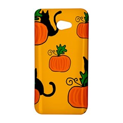 Halloween pumpkins and cats HTC Butterfly S/HTC 9060 Hardshell Case