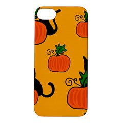 Halloween pumpkins and cats Apple iPhone 5S/ SE Hardshell Case