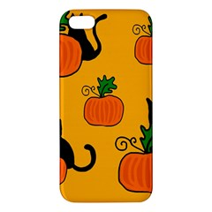 Halloween pumpkins and cats iPhone 5S/ SE Premium Hardshell Case