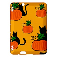 Halloween pumpkins and cats Kindle Fire HDX Hardshell Case