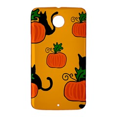 Halloween pumpkins and cats Nexus 6 Case (White)