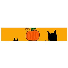 Halloween pumpkins and cats Flano Scarf (Small)