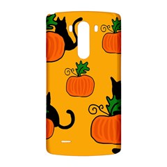 Halloween pumpkins and cats LG G3 Back Case