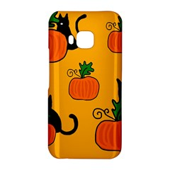 Halloween pumpkins and cats HTC One M9 Hardshell Case