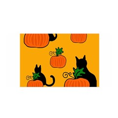 Halloween pumpkins and cats Satin Wrap