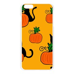 Halloween pumpkins and cats Apple Seamless iPhone 6 Plus/6S Plus Case (Transparent)