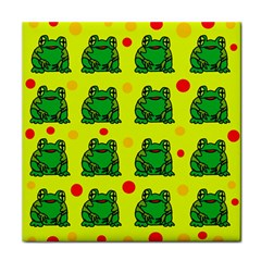 Green Frogs Tile Coasters