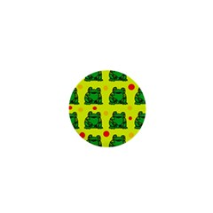 Green frogs 1  Mini Buttons
