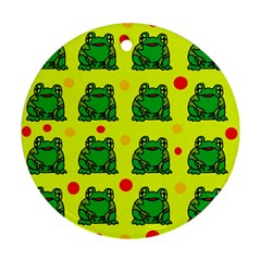Green frogs Ornament (Round)
