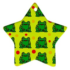 Green frogs Ornament (Star)