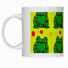 Green Frogs White Mugs