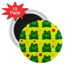 Green frogs 2.25  Magnets (10 pack)