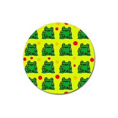 Green frogs Magnet 3  (Round)