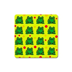 Green frogs Square Magnet