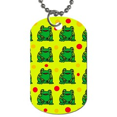 Green frogs Dog Tag (One Side)