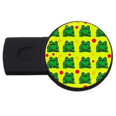 Green frogs USB Flash Drive Round (2 GB)