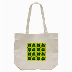 Green frogs Tote Bag (Cream)