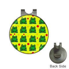 Green frogs Hat Clips with Golf Markers