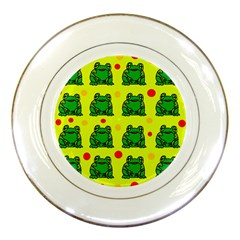 Green frogs Porcelain Plates