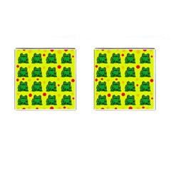 Green frogs Cufflinks (Square)