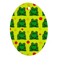 Green frogs Oval Ornament (Two Sides)