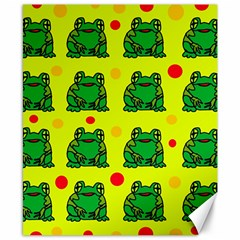 Green frogs Canvas 8  x 10
