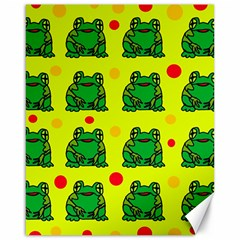 Green frogs Canvas 16  x 20
