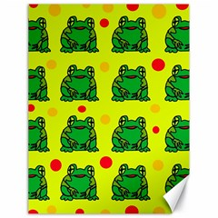 Green frogs Canvas 18  x 24