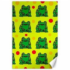 Green Frogs Canvas 24  X 36