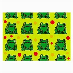 Green frogs Large Glasses Cloth (2-Side)