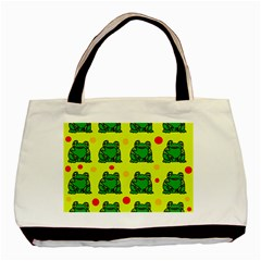 Green frogs Basic Tote Bag (Two Sides)