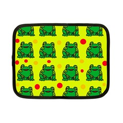 Green frogs Netbook Case (Small)