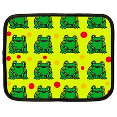 Green frogs Netbook Case (Large)