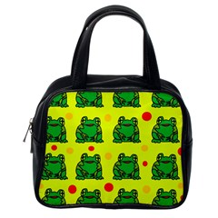 Green frogs Classic Handbags (One Side)