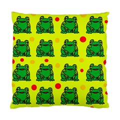 Green frogs Standard Cushion Case (Two Sides)