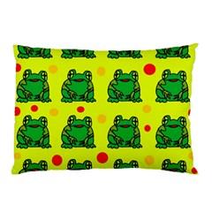 Green frogs Pillow Case
