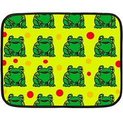 Green frogs Fleece Blanket (Mini)