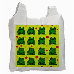 Green frogs Recycle Bag (One Side)