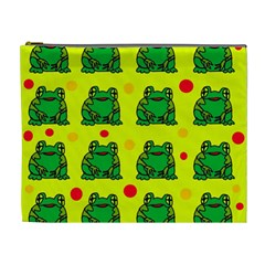 Green frogs Cosmetic Bag (XL)