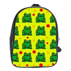 Green frogs School Bags(Large)