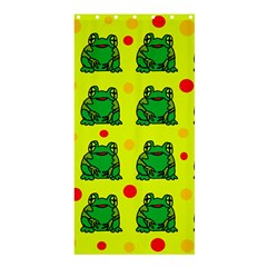 Green frogs Shower Curtain 36  x 72  (Stall)