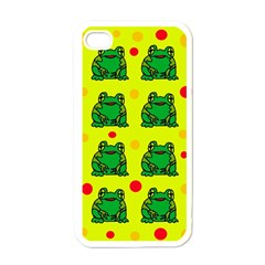 Green frogs Apple iPhone 4 Case (White)