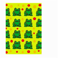 Green frogs Large Garden Flag (Two Sides)